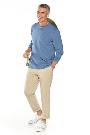 Long Sleeve V-Neck T-Shirt & Casual Pants Outfit